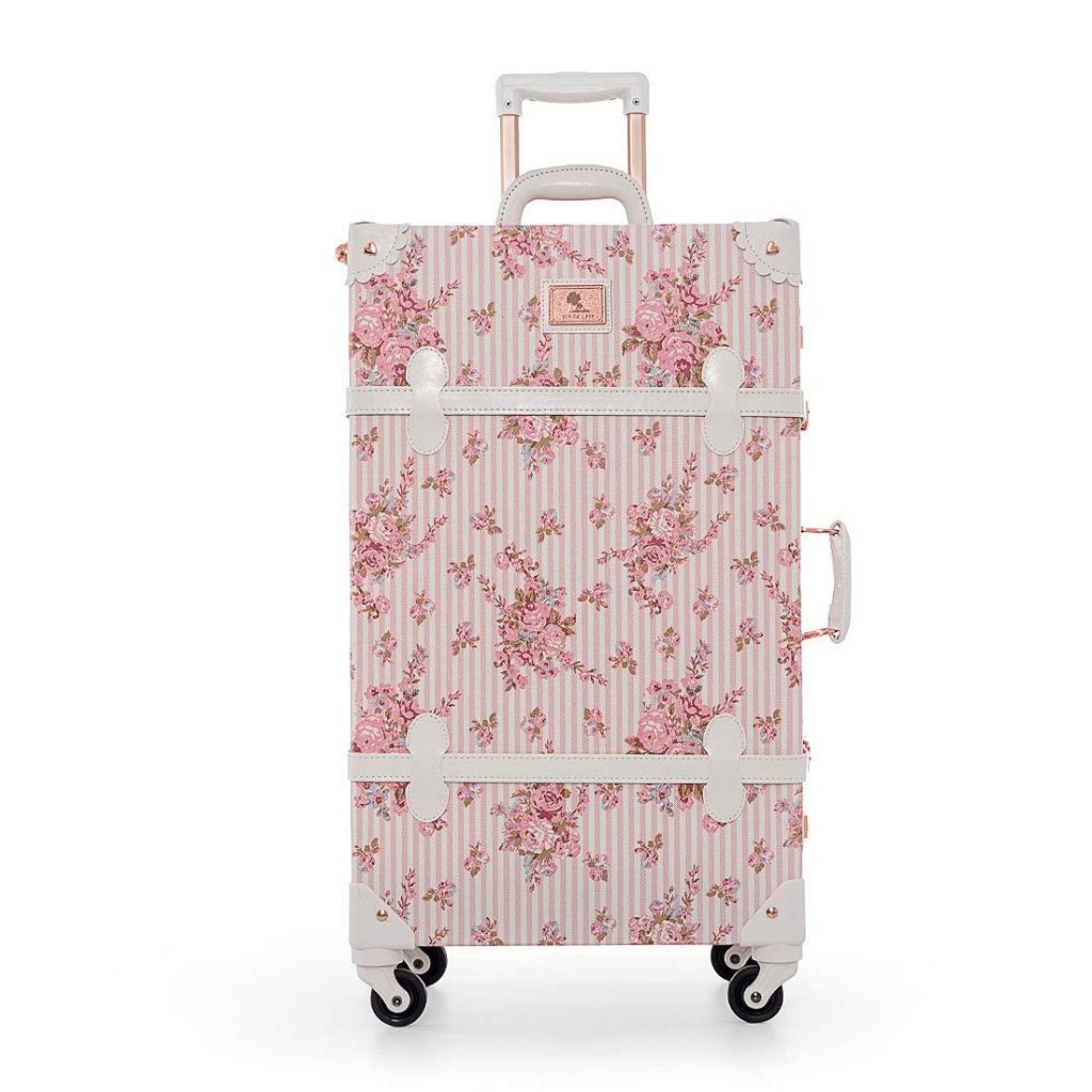 UNIWALKER Travel Floral Suitcases Vintage Cute Luggage