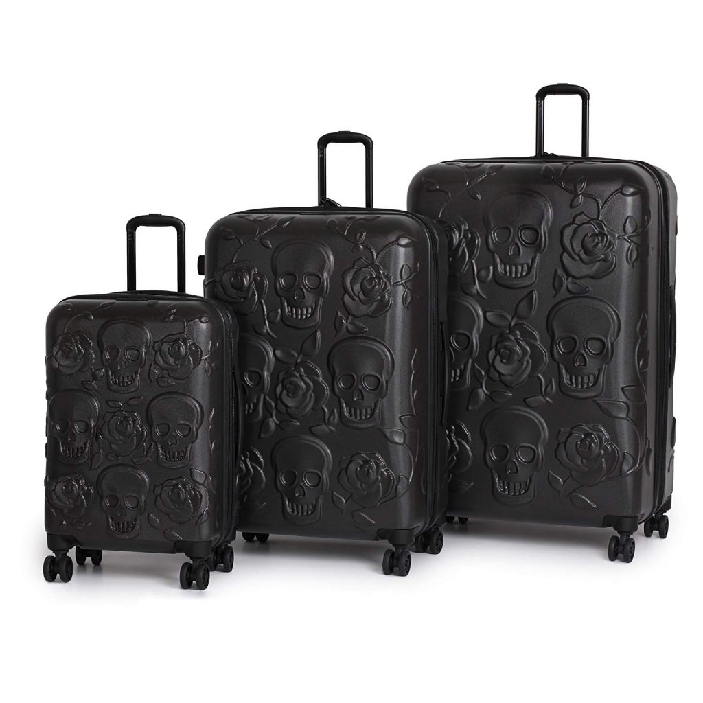 it luggage Duraliton Skulls and Roses 3 Piece Set