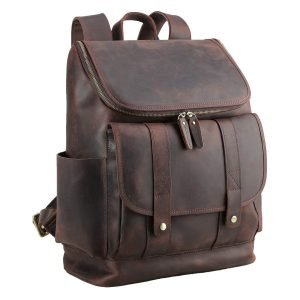 Polare Rustic Full Grain Leather Laptop Backpack