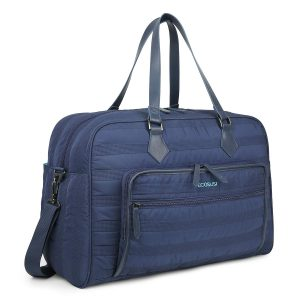 ECOSUSI Weekender Bag Travel Duffle Bag Overnight Bag Carry-on with Trolley Sleeve