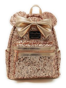 Disney Loungefly Rose Gold Backpack