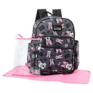 Disney Minnie Mouse Toss Head Print Backpack Diaper Bag