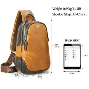 Tiding leather sling bag