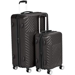 AmazonBasics Geometric Luggage Expandable Suitcase Spinner - 2 Piece Set