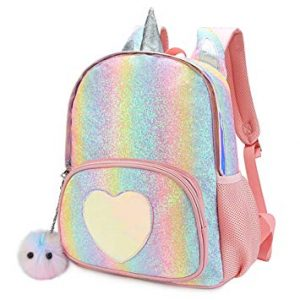 CMK Kids Unicorn Backpack for Girls Rainbow School Bag