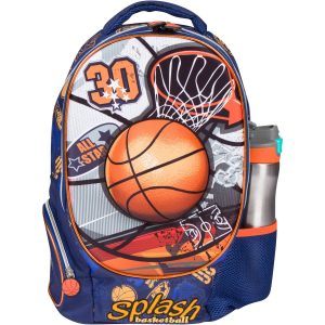 MB ALL-STAR - Kids Backpack with 3D Basketball Design Elementary School Book Bag for Boys - Large Compartments and Side Pockets