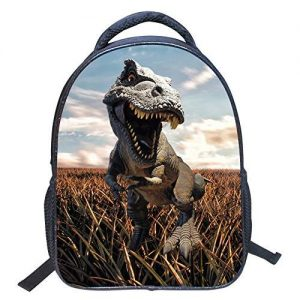 Mysticbags 3D Dinosaur Printed Kids Backpack Toddler Waterproof School Bags for Kindergarten