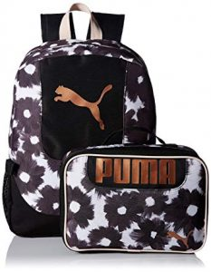 PUMA Big Kid's Lunch Box Backpack Combo for kindergarten