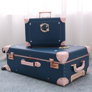 Student Luggage Set Cute Fashion Carry On Suitcase for Travel PU Leather Trunk Sets 26""