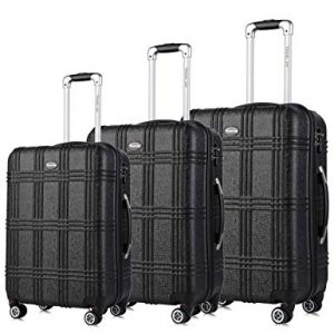 "Travel Joy Expandable Spinner Luggage Set,TSA lightweight Hardside Luggage Sets, 20"" 24""28 inches Carry On Luggage"