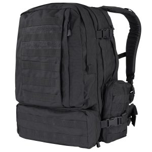 Condor 3 Day Assault Pack (Black, 3038-Cubic Inch)