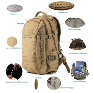 GXQ Dragon Egg Military Tactical Backpack, Molle Backpack Camping Traveling (Khaki)-best tactical backpack