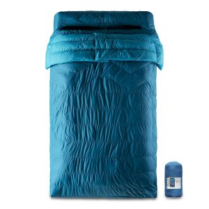 Klymit KSB 30 Degree Down Two Person Double Sleeping Bag, Blue