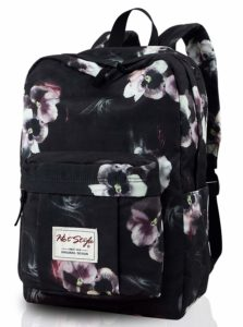 599s Trendy Floral School Backpack College Bookbag