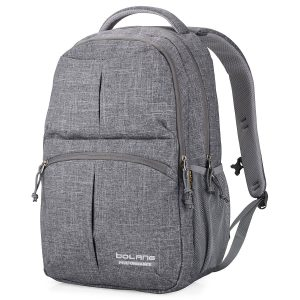 BOLANG College Backpack for Men Water Resistant Travel Backpack Women Laptop Backpacks Fits 16 inch Laptop Notebook 8459 (Grey)