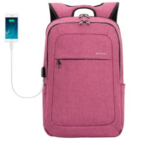 Laptop Backpack, Winblo 15 15.6 Inch College Backpacks Lightweight Travel Daypack - Mauve Pink
