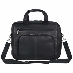 "Kenneth Cole Reaction Reaction Manhattan Colombian Leather Expandable RFID 15.6"" Laptop Business Briefcase Bag"