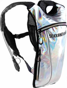 Sojourner Rave Hydration Pack Backpack - 2L Water Bladder Included for Festivals, Raves, Hiking, Biking, Climbing, Running and More (2 Pocket)