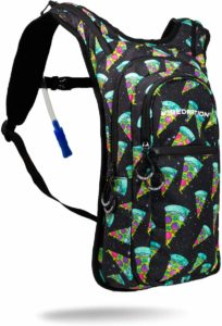 Vibedration VIP 2 Liter Hydration Pack | Hiking, Running, Biking, Festival Water Backpack