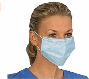 Disposable Face Masks,Disposable Surgical Mask Dust Breathable Earloop Antiviral Face Mask, Comfortable Medical Sanitary Surgical Mask Thick 3-Layer Masks