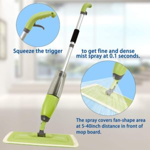 MistDriver Floor Cleaning Spray Mop with 4 Extra Large Microfiber Pads and 2 High Capacity Bottles, Home or Commercial Use, Professional Dusting