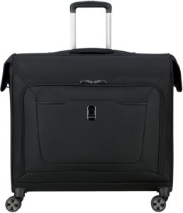 DELSEY Paris Hypergilde Softside Garment Travel Bag with Spinner Wheels, Black