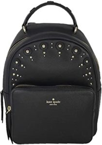 Kate Spade Studded Leather Mini Nicole Backpack, Black