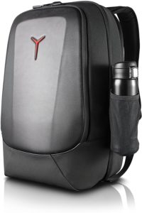 Lenovo Legion Armored 17 inch Gaming Backpack, maximum protection, weatherproof vinyl exoskeleton, full of pockets, for gamer, casual or college students, GX40L16533