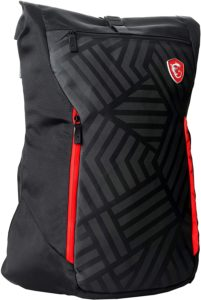 "MSI Mystic Knight Gaming Laptop Backpack, Quick Access, Padded Mesh, Lightweight Polyester Exterior, Fits Up to 17"" Laptop, Water Repelent IPX-2, Convertible to Shoulder Pack, Large Size"