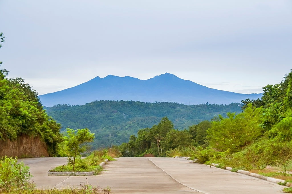 View of Mount Apo taken from Davao City, the largest mountain in The Philippines.