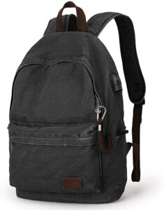 MUZEE Canvas Backpack Lightweight Travel Daypack Student Rucksack Laptop Backpack