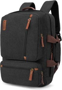SOCKO Convertible Laptop Backpack Canvas Messenger Bag Shoulder Briefcase Multifunctional Travel Rucksack